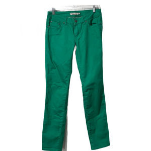 Prana Kara Green Skinny Jeans Five Pocket 6/28